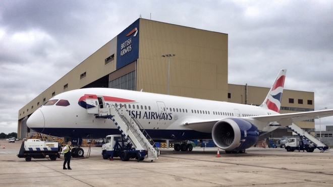 BA's 787-8 at London Heathrow, 2013. Photo by Paul Thompson