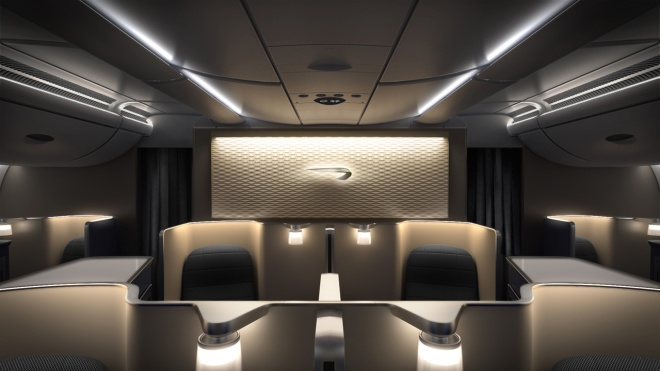 First Class on British Airways A380 (image via British Airways)