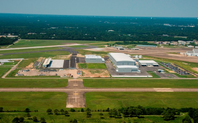 Aerial photo of Airbus' Final Assembly Line at Mobile. Photo courtesy Airbus.