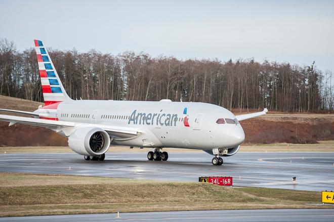 American 787-8 Dreamliner. Image via Boeing