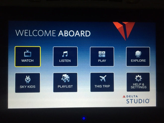 Panasonic IFE screen on Delta's refurbished A319